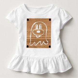 Camiseta Infantil T de madeira 1 do plissado da criança do 鬼鬼 do