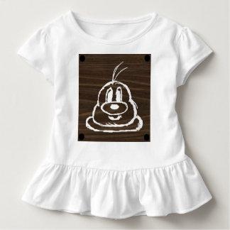 Camiseta Infantil T de madeira 3 do plissado da criança do 鮑鮑 do