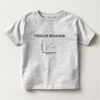 Camiseta Infantil T do comportamento da criança