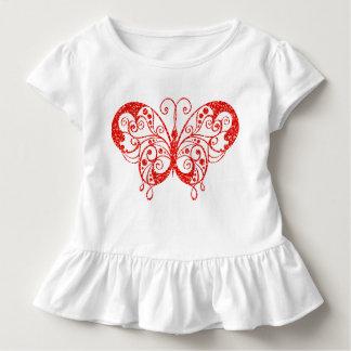 Camiseta Infantil T do plissado da criança da borboleta