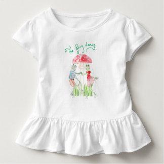"""Camiseta Infantil """"T do plissado da criança da dança do sapo"""""""