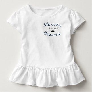 Camiseta Infantil T do plissado da criança da oração do submarinista