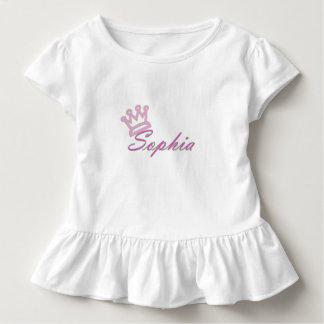 Camiseta Infantil T do plissado da criança da rainha Sophia