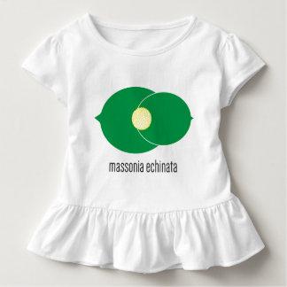 Camiseta Infantil T do plissado da criança de Massonia Echinata