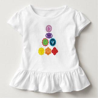 Camiseta Infantil T do plissado da criança do bebê da ioga de sete