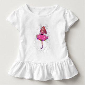 Camiseta Infantil T do plissado da criança do rubi