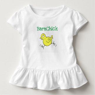 Camiseta Infantil T do plissado de BarnChick