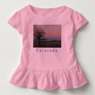 Camiseta Infantil T do plissado de Colorado da criança