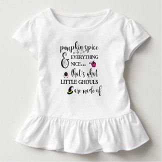 Camiseta Infantil T do plissado de SpiceToddler da abóbora