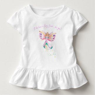 """Camiseta Infantil """"T do plissado do bebê do amigo feericamente"""""""