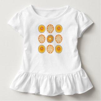 Camiseta Infantil T do plissado do círculo da modificação