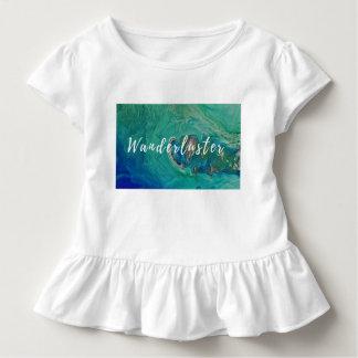 Camiseta Infantil T do plissado do wanderluster da criança