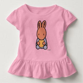 Camiseta Infantil T doce do plissado da criança do coelho