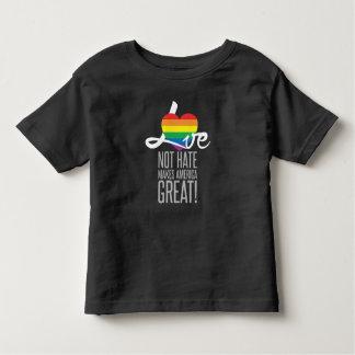 Camiseta Infantil T escuro do jérsei da criança do ódio do amor não