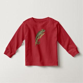 Camiseta Infantil T espinhoso da criança da Longo-Luva do camaleão