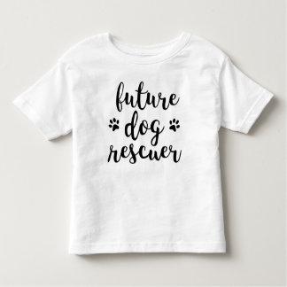 Camiseta Infantil T futuro da criança do salvador do cão