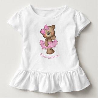 Camiseta Infantil T futuro do plissado da criança do urso da