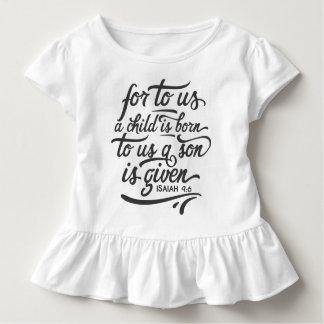Camiseta Infantil T inspirado do plissado do verso   da bíblia do
