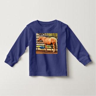 Camiseta Infantil T longo da luva do Palomino da criança