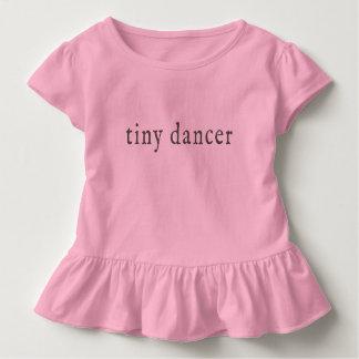 Camiseta Infantil T minúsculo do plissado do dançarino