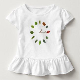 Camiseta Infantil T natural do plissado da criança do estilo do
