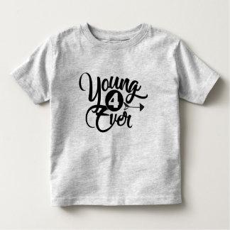 Camiseta Infantil T novo do aniversário 4ever