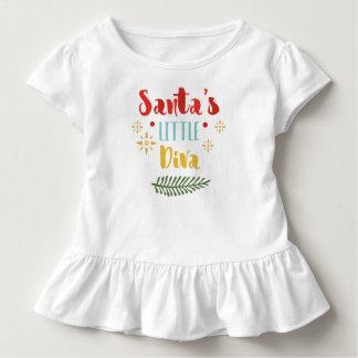 Camiseta Infantil T pequeno do plissado do Natal | da diva do papai