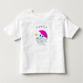 Camiseta Infantil T personalizado dos miúdos do polvo amigos bonitos