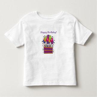 Camiseta Infantil T-shirt #1 do bolo do feliz aniversario