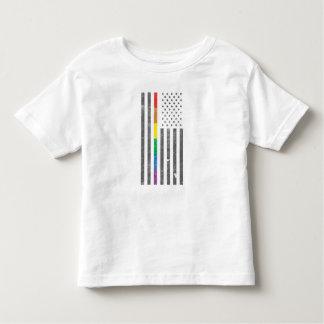 Camiseta Infantil T-shirt americano do jérsei da criança da bandeira