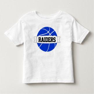 Camiseta Infantil T-shirt azul da equipa de basquetebol, do nome &