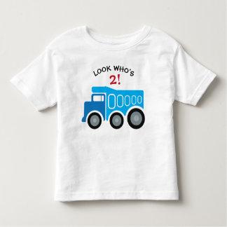 Camiseta Infantil T-shirt azul do aniversário do camião basculante