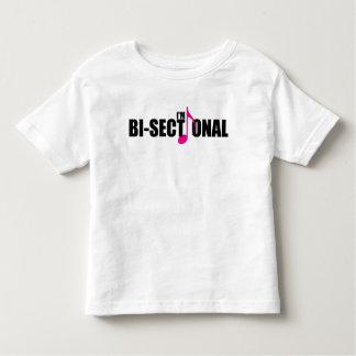 Camiseta Infantil T-shirt Bisectional do jérsei da criança