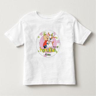 Camiseta Infantil T-shirt/cão/verde/rosa da criança de Hanukkah