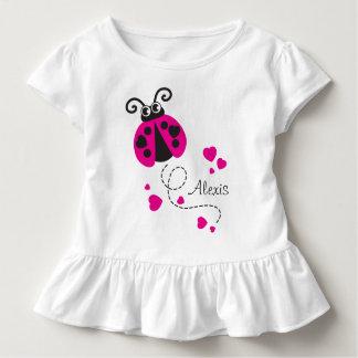 Camiseta Infantil T-shirt conhecido cor-de-rosa dos corações do