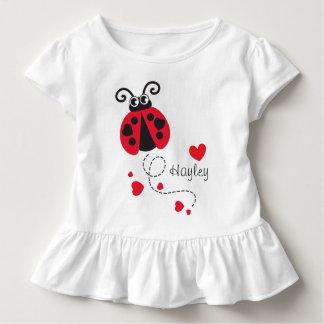 Camiseta Infantil T-shirt conhecido vermelho dos corações do
