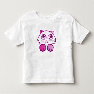 Camiseta Infantil T-shirt cor-de-rosa do gato do gatinho