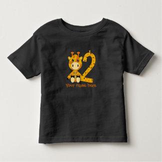 Camiseta Infantil T-shirt customizável do número 2
