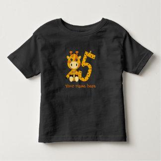 Camiseta Infantil T-shirt customizável do número 5