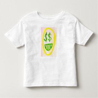 Camiseta Infantil T-SHIRT da CRIANÇA da cara do dinheiro do trunfo