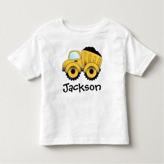 Camiseta Infantil T-shirt da criança da construção do camião