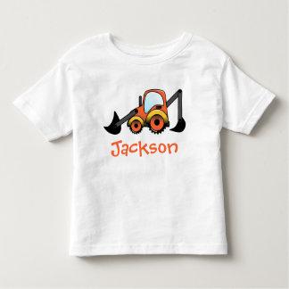 Camiseta Infantil T-shirt da criança da construção do escavador