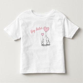 Camiseta Infantil T-shirt da criança da irmã mais velha