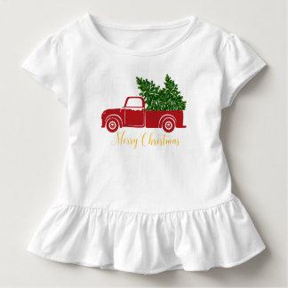 Camiseta Infantil T-shirt da criança do caminhão da árvore de Natal