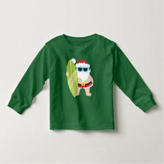 Camiseta Infantil T-shirt da criança do feriado do papai noel da