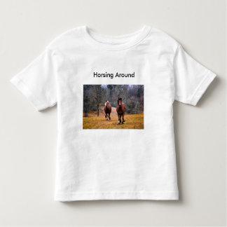 Camiseta Infantil T-shirt da criança para amantes do cavalo