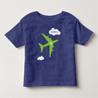Camiseta Infantil T-shirt da festa de aniversário do avião do miúdo