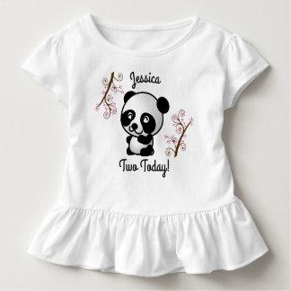 Camiseta Infantil T-shirt da panda dois hoje