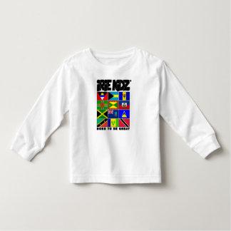 Camiseta Infantil T-shirt das caraíbas da criança da bandeira de