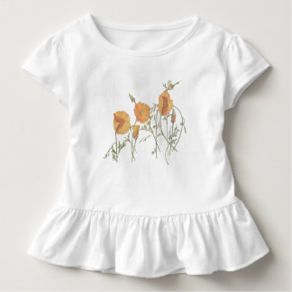 Camiseta Infantil T-shirt do bebê da papoila de Califórnia